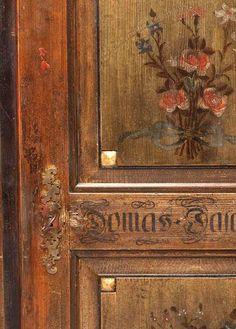 Hand painted door. Gorgeous. decori in baita