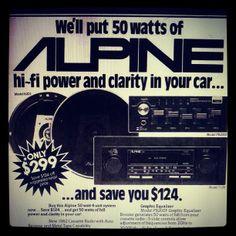 Vintage Alpine Car Audio Ad