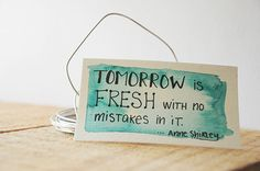 Tiny Turquoise Watercolor Quote Painting Tomorrow is Fresh #bestofEtsy #new