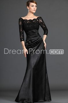 Attractive Lace Trumpet/Mermaid Off-the-Shoulder Floor-length Mother of the Bride Dresses. mother of the bride dress? only if you want the mother to upstage the bride. drama drama drama. so pretty chic.