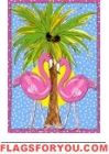 Custom Decor Flag - Moonlight Flamingos Decorative Flag at Garden House Flags Flamingo Garden, Flamingo Art, Pink Flamingos, Flag Decor, Art Decor, Palm Trees Garden, Stitch Games, Flamingo Wallpaper, Christmas