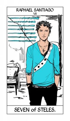 Raphael Santiago - Seven of Steles: Cassandra Jean: Shadowhunter Tarot Series: *Character belongs to Author Cassandra Clare and her Mortal Instruments series Cassandra Jean, Cassandra Clare Shadowhunters, Cassandra Clare Books, Isabelle Lightwood, Alec Lightwood, Jace Wayland, Clary Et Jace, Clary Fray, Emma Carstairs