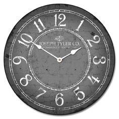 "Gray & White Clock, 12""-60"" , Whisper Quiet, non-ticking The Big Clock Store http://www.amazon.com/dp/B00HXND1YO/ref=cm_sw_r_pi_dp_SpGAub0A6P8VE"