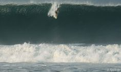 Israeli surfer Idan sticking the elevator drop during a morning of closeouts at Puerto Escondido.