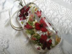 I'm EnchantedRed Verbena Coral Bells Veronica by giftforallseasons, $30.00