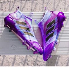 Purple isn't my favorite… but even these might change my mind. - Purple isn't my favorite. but even these might change my mind. Adidas Soccer Boots, Adidas Cleats, Nike Soccer, Cleats Shoes, Messi Cleats, Girls Soccer Cleats, Soccer Gear, Soccer Equipment, Best Soccer Cleats