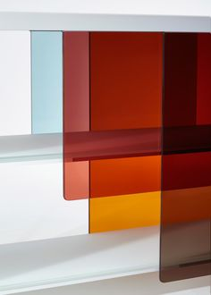 Glas Italia enlists prominent designers to create glass furniture for 2016 collection. Pictured: Layers by Nendo
