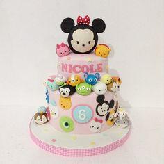 Tsum tsum cake #tsumtsum #disney #2tiers #birthdaycake #bandungcake #delightfullycake