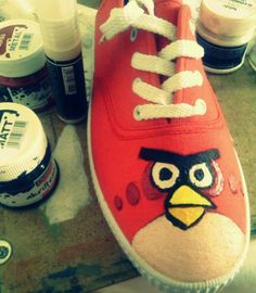 Zita Komár's art blog zizke.tumblr.com Angry birds canvas shoes which i painted by myself