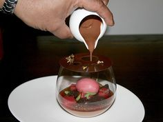 Chocolate Orange at Hakkasan NYC: Chocolate mousse, blood orange ...