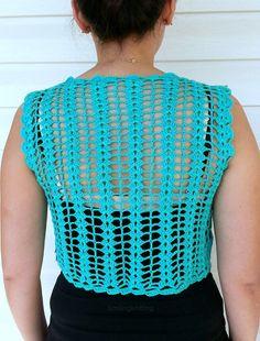 Granny Square Green Vest Crochet Sweater Lace Top Romantic