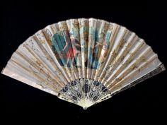 Superbe éventail soie XVIII fan ventaglio facher silk 18th | eBay