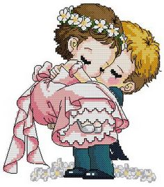 PDF file counted aida cross stitch wedding by helloanna2009, $4.50