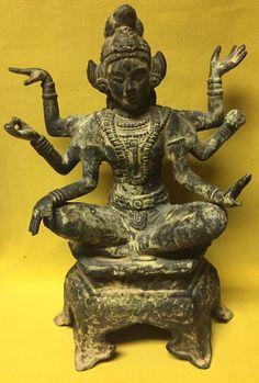 Antique SHIVA Cast Iron Figurine Asian Indian God Hindu Sculpture Statue    eBay