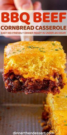 Dinner Casserole Recipes, Cornbread Casserole, Casserole Dishes, Beef Dishes, Food Dishes, Main Dishes, Meat Recipes, Cooking Recipes, Vegetable Recipes