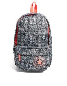 Mini black & lace skull backpack