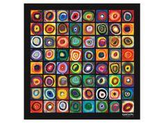 カンディンスキー  Color of Squares
