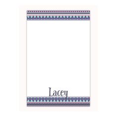 Personalized notepad in tribal print, custom notepad, memo pad, office gift, gift for her, gifts under 20, coworker gift by PaperKStudios on Etsy