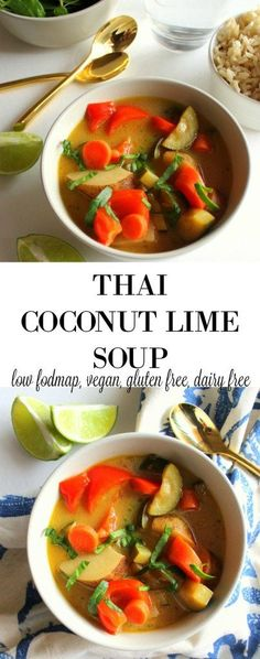 Thai Coconut Lime Soup - low FODMAP, vegan, gluten free