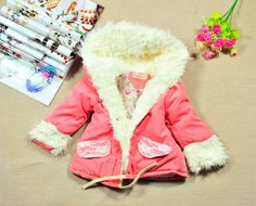 7bd12a6e8 Aliexpress.com : Buy Free shipping children winter fur collar thick fleece coat  girls outwear fashion baby clothing 2013 New Hot Sale from Reliable coat ...