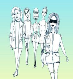 Fashion Illustration // IsthisART  http://www.i-m.co/lindlachris/IsthisARThome/home.html