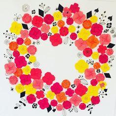 できましたー。 大きい丸は難しいデス(*^^*) #折り紙  #nutyayamachi  #paperflower  #papercraft  #illustration #paperart  #origami  #イラスト #ペーパーアート #ペーパークラフト #茶屋町 #nu茶屋町