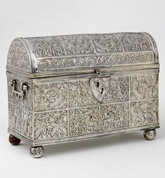 Silver casket, about 1608-15,  Alto Perú (now Bolivia), Victoria and Albert Museum