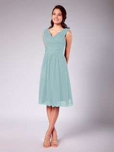 Pleated Chiffon Bridesmaid Dress | Plus and Petite sizes available! Hundreds of styles, tons of colors!