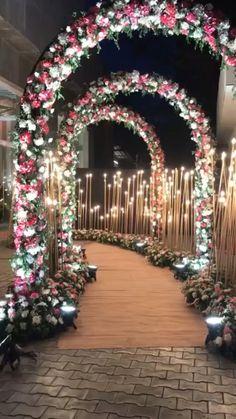 Wedding Backdrop Design, Wedding Hall Decorations, Wedding Stage Design, Desi Wedding Decor, Marriage Decoration, Wedding Entrance, Entrance Decor, Backdrop Decorations, Stage Decoration For Wedding