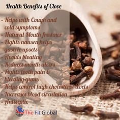 Health benefits of Clove #cold #natural #stress #health #thefitglobal