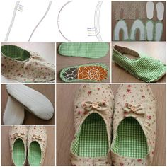 How to make Womens House Slippers DIY tutorial instructions, How to, how to do, diy instructions, crafts, do it yourself, diy website, art project ideas