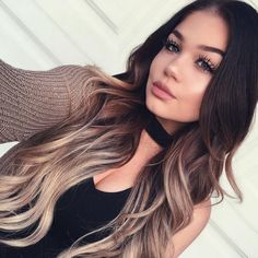 71 most popular ideas for blonde ombre hair color - Hairstyles Trends Blond Hairstyles, Wedding Hairstyles, Medium Hairstyles, Formal Hairstyles, Curly Hair Styles, Natural Hair Styles, Ombre Hair Styles, Ombré Hair, Hair Updo