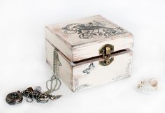 Treasury  Box with Birds and Bicycle  by MyHouseOfDreams on Etsy, $22.00
