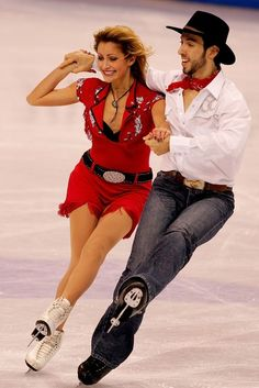 Tanith Belbin and Benjamin Agosto compete in the original dance during the US Figure Skating Championships January 24, 2008 at the Xcel Energy Center in St Paul, Minnesota.  (January 24, 2008 - Source: Matthew Stockman/Getty Images North America)