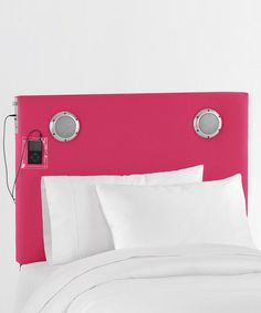 Hot Pink Mp3 Speaker Headboard