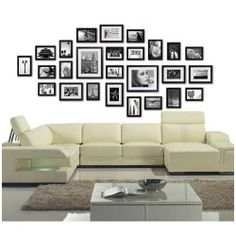 NEW 26 Piece Wall Photo Frames Set in Black PFS-26F-BK