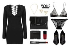 """""""YOINS"""" by baludna ❤ liked on Polyvore featuring moda, Givenchy, Yves Saint Laurent, NARS Cosmetics e MAC Cosmetics"""