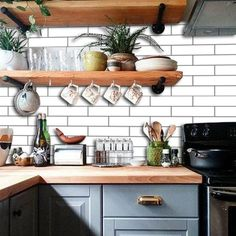 Unusual DIY Kitchen Open Shelving Ideas,Kitchen ideas furnishing country house with wood. Unusual DIY Kitchen Open Shelving Ideas Elevate Your Room With New Kitchen Deco. Kitchen Shelves, Kitchen Decor, Kitchen Paint, Glass Shelves, Kitchen Drawers, Open Cabinet Kitchen, Kitchen Interior, Design Kitchen, Kitchen With Blue Cabinets