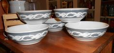 Set of five wonderful airbrushed gray or grey by SevenTreasures, $22.00