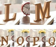 Amazon.com: Aimeart Decorative Alphabet Set A to Z Wood Letter Set Prop for Wedding Birthday Prom Party Shower Decoration Photo Booth Prop, M: Kitchen & Dining