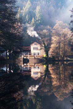 Lake house, Switzerland