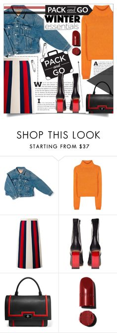 """""""Pack and Go"""" by katerin4e-d ❤ liked on Polyvore featuring Balenciaga, Acne Studios, Gucci, Vetements and Givenchy"""