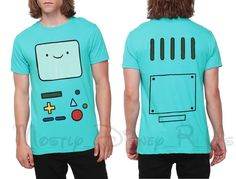 Adventure Time with Finn Jake Jake BMO Face Tee T Shirt Mens Sizing