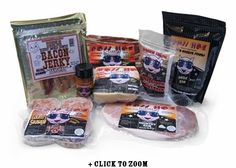Bacon, bacon jerky, bacon coffee, sausage and more in this gift set!