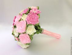Свадебный букет из лент. Розовый в интернет-магазине на Ярмарке Мастеров.