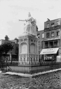 Photo of Southend On Sea, Statue Of Queen Victoria 1898 Essex England, England And Scotland, Old Pictures, Old Photos, Leigh On Sea, Scotland History, Local History, Family History, Unicorns And Mermaids