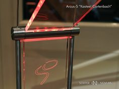 Arcus-S lamp - detail with signature of owner