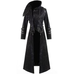 Punk Rave Scorpion Mens Coat Long Jacket Black Gothic Steampunk Hooded... ❤ liked on Polyvore featuring men's fashion, men's clothing, men's outerwear, men's coats, mens gothic coat, mens long jacket and mens coats