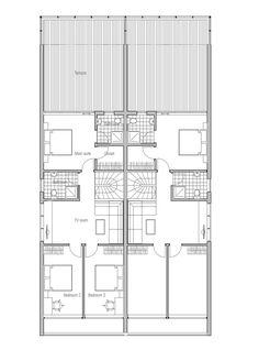 house design semi-detached-house-plan-CO83d-2 3 | villas jumelées ...