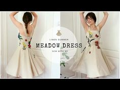 A Linen Summer Meadow Dress | Sew With Me - YouTube